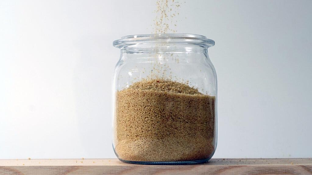 Couscous abfüllen